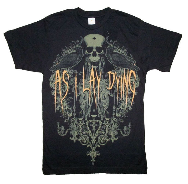 Official 'As I Lay Dying' Men's Black Band Tee - Erbana 88