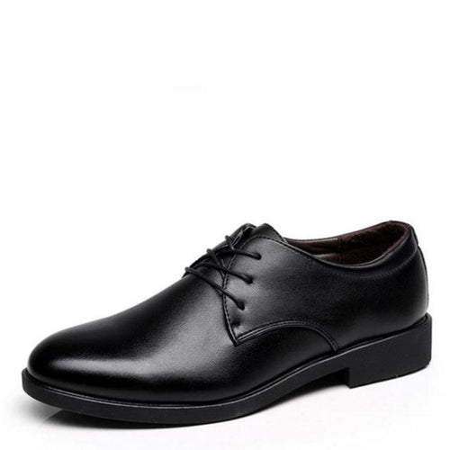 Men's Solid Vintage Style Semi Classic Pointed Toe Oxford Shoes - Erbana 88