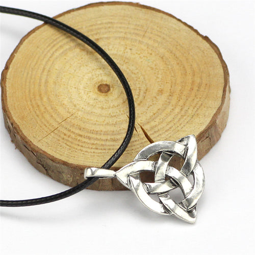 Men's Vintage Stainless Steel Viking Necklace w/ Odin's Iced Out Knots Amulet - Erbana 88