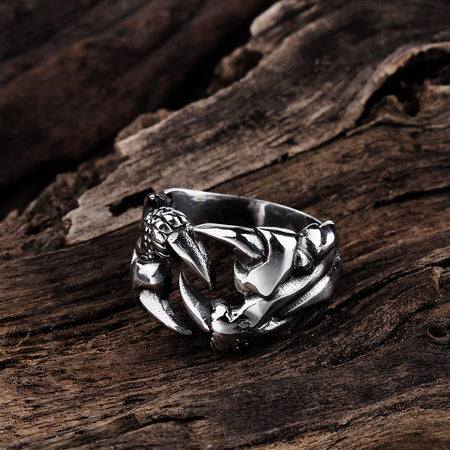 Men's Vintage 925 Sterling Silver Valknut Ring w/ Odin's Viking Symbol Design