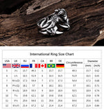 Men's Stainless Steel Gothic Dragon Claw Ring - Erbana 88