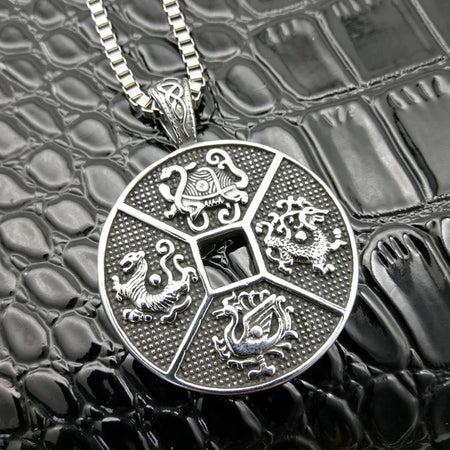 Men's Stainless Steel Soccer Pendant & Necklace