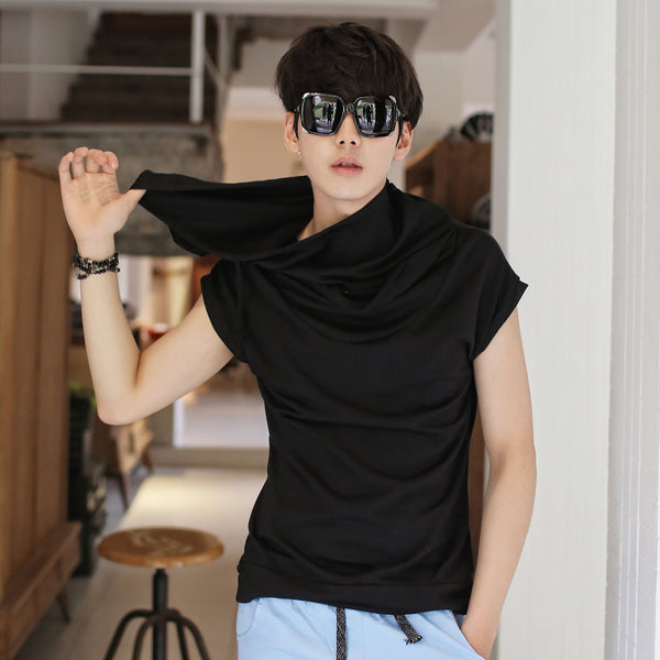 Men's Short Sleeve Cotton Pullover Hooded Tee - Erbana 88