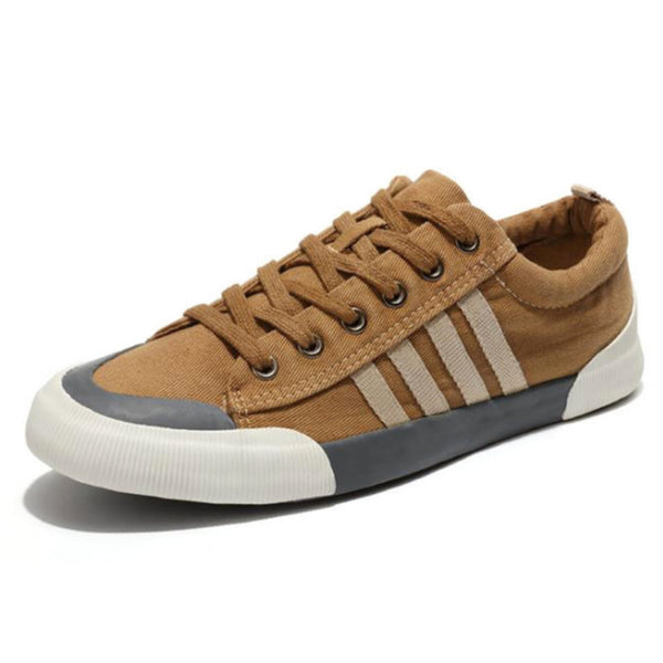 Men's Urban Style Round Toe Canvas Wear-Resistant Shoes - Erbana 88