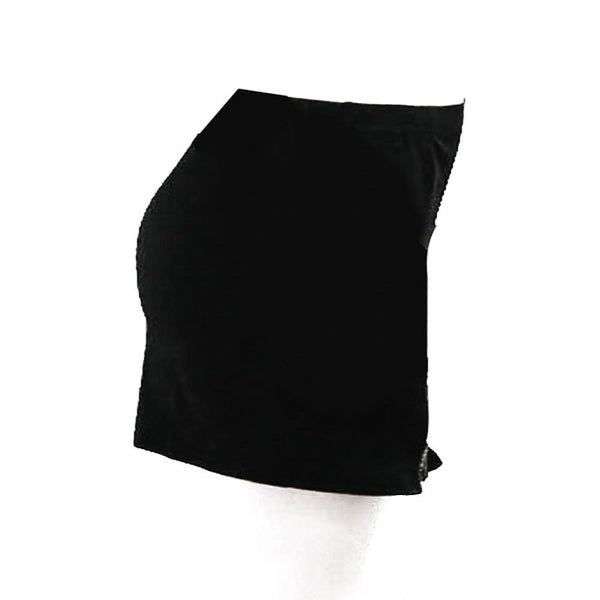 Women's Chic A-Line Mini Skirt w/ Zippered Side Split & Stitch Design - Erbana 88