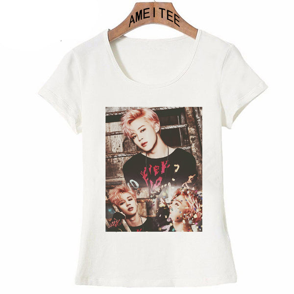 Women's O-Neck Short Sleeve 'BTS' K-Pop Assorted Tee