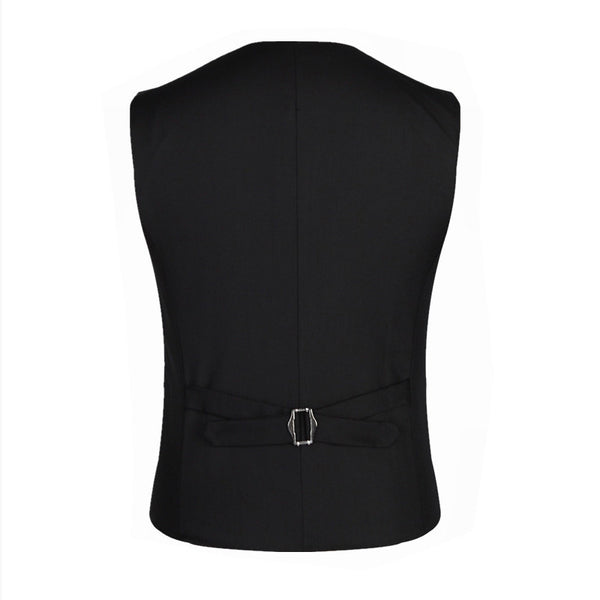 Men's Fitted Business Style Tri-Button Polyester Vest w/ Chain - Erbana 88