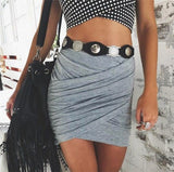 Women's High Waist Pencil Style Mini Bandage Skirt - Erbana 88