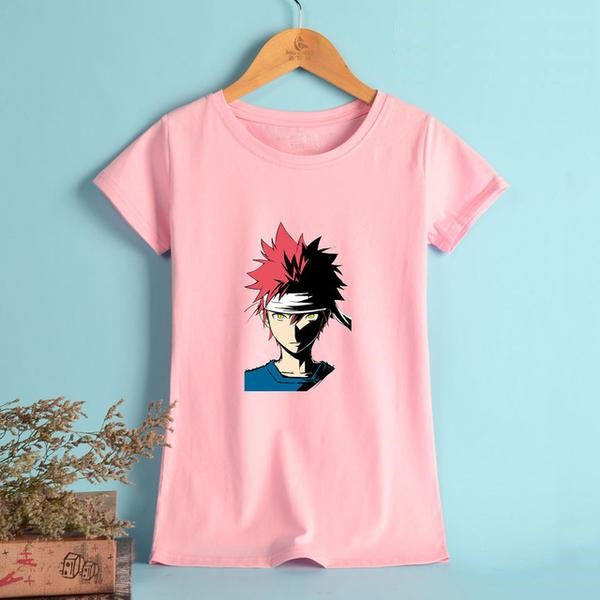 Women's Vintage Short Sleeve Assorted Design 'Shokugeki No Soma' Anime Tee - Erbana 88