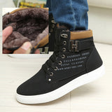 Men's Ankle Length Plain & Fur Interior Leather Shoes w/ Buckle - Erbana 88