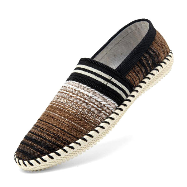 Men's Ultra Breathable Summer Style Loafers w/ Striped Pattern - Erbana 88