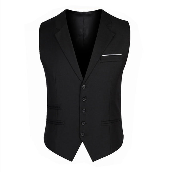 Men's British Style Single Breasted Vest w/ Designer Pocket & Notched Collar - Erbana 88