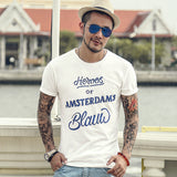 Men's Quick Dry Bamboo Cotton 'Heroes of Amsterdam...' Short Sleeve Tee - Erbana 88