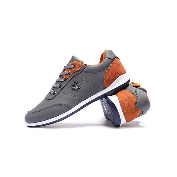 Men's Light Fit Dual Color Laced Sneakers w/ Authentic Italian Stitch - Erbana 88