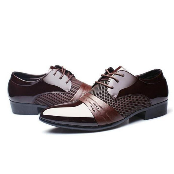 Men's Vintage Style Ultra Breathable Formal Leather Oxford Shoes - Erbana 88