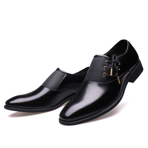 Men's Elegant High Quality Formal Oxford Shoes w/ Gold or Silver Lace - Erbana 88