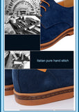 Men's Authentic Suede Oxfords w/ Pure Italian Stitching - Erbana 88