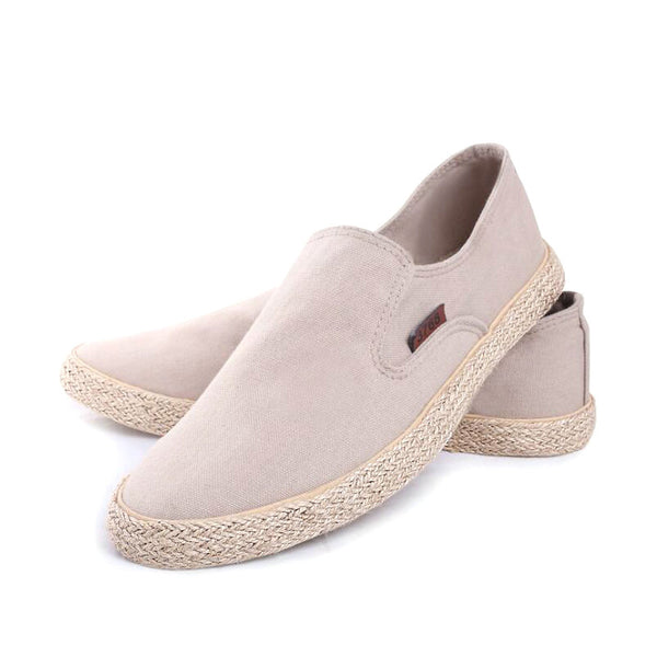 Men's Vintage Style Comfort Fit Slip On Canvas Lining Loafers - Erbana 88