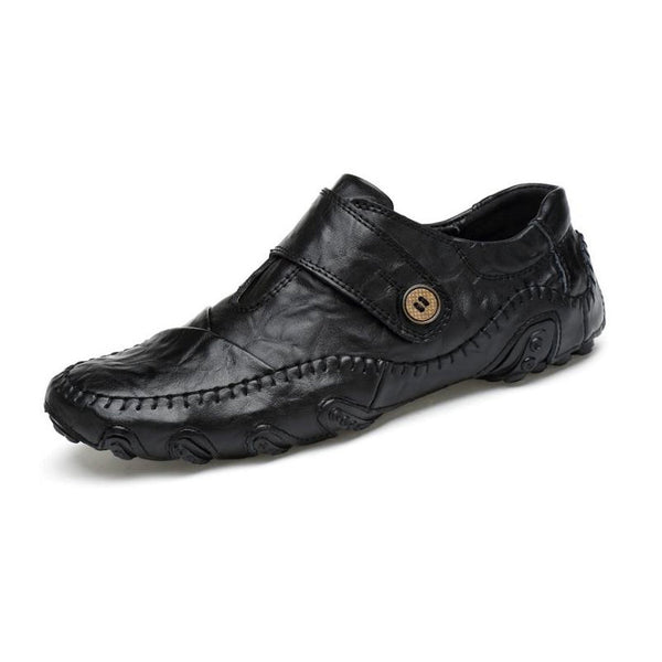 Men's Casual British Style Hook & Loop PU Leather Shoes - Erbana 88