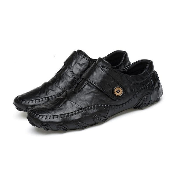 Men's Casual British Style Hook & Loop PU Leather Shoes