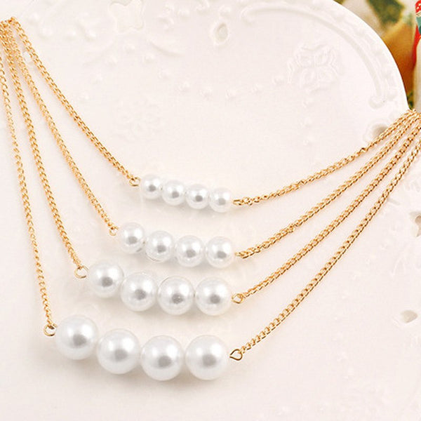Women's Elegant Multilayer Bohemian Style Pearl Necklace