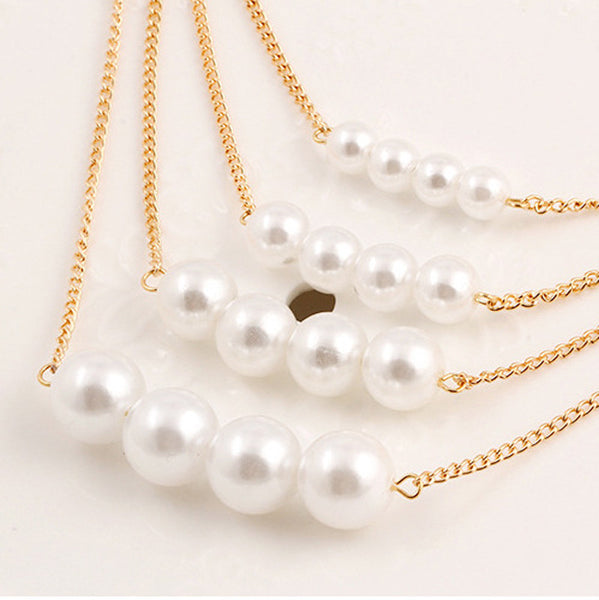 Women's Elegant Multilayer Bohemian Style Pearl Necklace - Erbana 88
