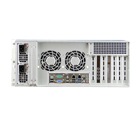 DIGITAL WATCHDOG DW-BJER4U160T Blackjack® E-RACK 4U 24-Bay Chassis 128-Channel 2.1MP 600Mbps RAID 5 Intel® i7® Processor NVR (160TB HDD Included)