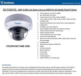 GEOVISION GV-TVD4710 4MP Low Lux WDR Pro IR PoE Network outdoor Dome Camera with 2.8~12mm, RJ45 Connection