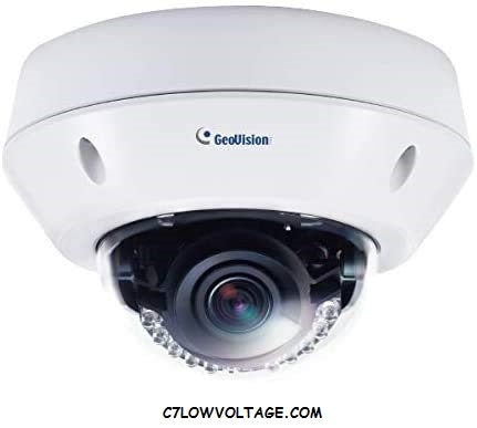 GEOVISION GV-VD8700 8MP IR WDR Outdoor Network Dome Camera with 3.3 ~ 12mm varifocal lens, RJ45 connection
