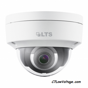 LTS CMIP7342W-M Platinum Network Vandal Outdoor Dome IP Camera, 4MP, 4mm, True WDR, Matrix IR 2.0, SD card slot, RJ45 Connection