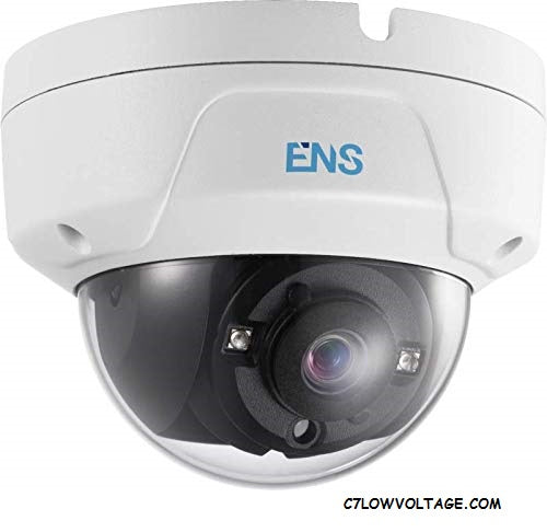 ENS SCC52D3/28/M Starlight 2MP WDR IR Ultra Low Light TVI/AHD/CVI/CVBS Analog Dome Camera with 2.8 mm fixed lens, BNC Connection.