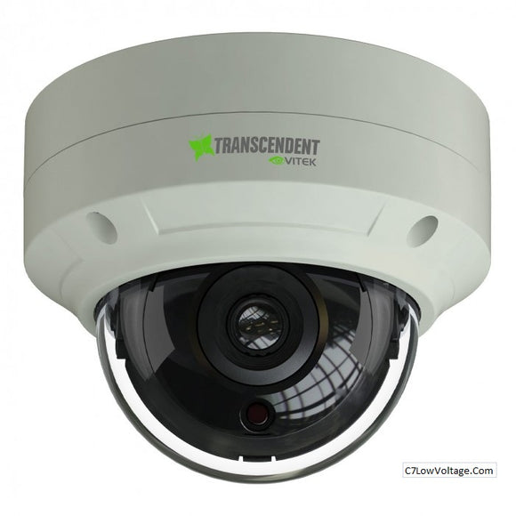 Vitek VTD-TND5RFE-2 5 Megapixel Indoor/Outdoor WDR IP Vandal Dome Camera with 16 IR LED Illumination, 2.8mm Lens RJ45 Connection