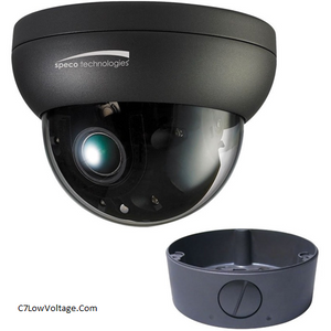 Speco Technologies O8FD4M  Flexible Intensifier 8MP Outdoor Network Dome Camera with Night Vision & 3.6-11mm Lens . RJ45 connection .