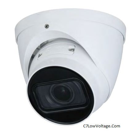 Dahua Oem IPC-EB244T-IR-ZS 4MP WDR IR Eyeball Outdoor Network Camera 2.7 mm–13.5 mm Motorized vari-focal Lens , RJ45 Connection.