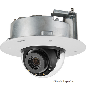 Wisenet XND-8081RF 5MP Flush Mount IR Network Indoor Dome Camera , 3.6~9.4mm (2.6x) motorized varifocal lens , RJ45 Connection .