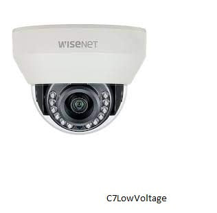 Hanwha Techwin HCV-7010RA 4MP AHD Outdoor Dome Camera with Night Vision and 2.8mm Lens BNC Connection