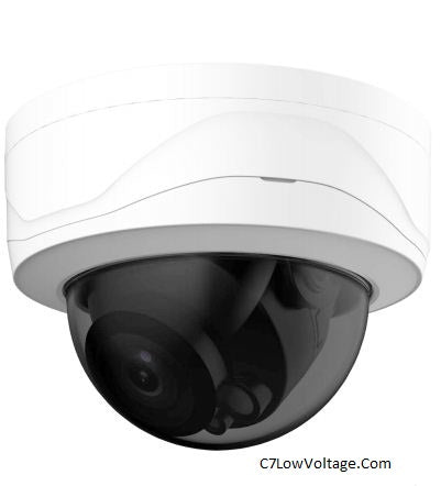 Dahua Oem IPC-VD244T-IR-ZAS 4MP WDR IR Dome Outdoor Network Camera 2.7 mm–13.5 mm Motorized Lens , RJ45 Connection.