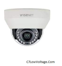 Hanwha Techwin HCD-7030RA HD+ 4MP AHD Dome Camera with Night Vision and 6mm Lens . BNC Connection .