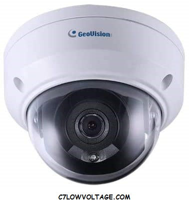 Geovision GV-TDR4700 4MP IR WDR Pro Outdoor Network Dome Camera with 2.8mm Fixed, RJ45 Connection Lens
