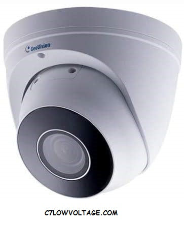 GEOVISION GV-EBD4711 4MP IR WDR Pro Outdoor Eyeball Network dome Camera with 2.7~12mm Motorized varifocal lens, RJ45 connection