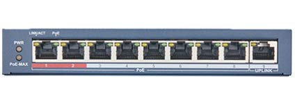 LTS | LTPOE-SW801N | 8-Port 100 Mbps Long-Range Unmanaged PoE, High priority ports.