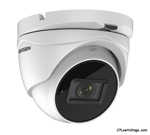 HIKVISION DS-2CE79U1T-IT3ZF TurboHD 8MP EXIR Outdoor Analog Turret Dome Camera with 2.7 mm to 13.5 mm Motorized Varifocal Lens, BNC Connection