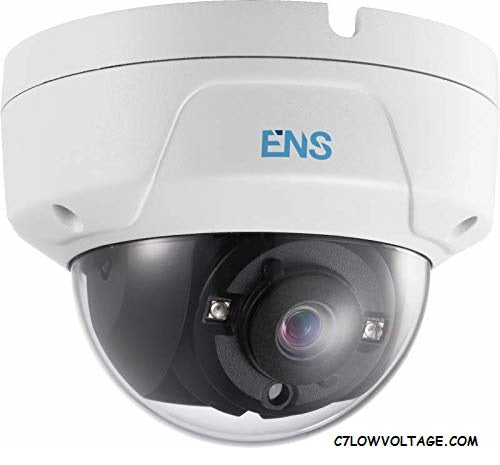 ENS SCC48D3/28-K 8MP IR DWDR TVI/AHD/CVI/CVBS HD Dome Camera with 2.8 mm fixed lens, BNC Connection.