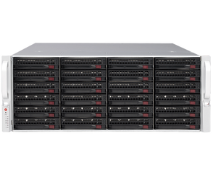 DIGITAL WATCHDOG DW-BJER4U320T-LX Blackjack® E-RACK 4U 24-Bay Chassis 128-Channel 2.1MP 600Mbps RAID 5 Intel® i7® Processor NVR (Linux® Ubuntu® 16.04) (320TB HDD Included)