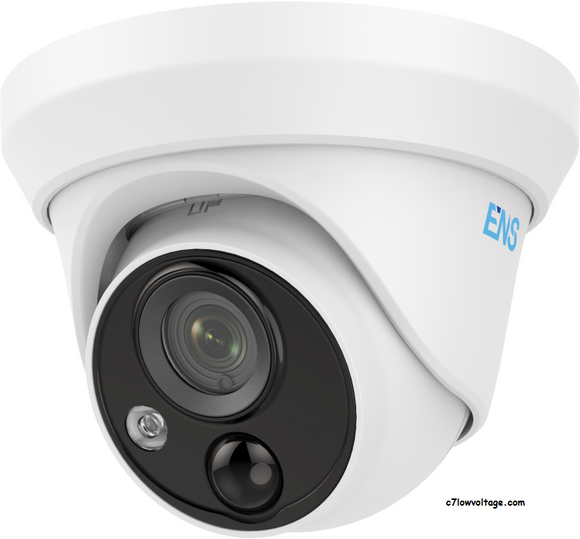 ENS SCC35T2P/28-H 5MP PIR LED Alarm WDR Outdoor network Turret Camera with 2.8 mm fixed lens, RJ45 Connection
