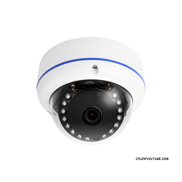 EYEMAX NIU E4042-W28A 4MP IR OUTDOOR TURRET NETWORK DOME CAMERA with 2.8mm Lens and Built-in Microphone, RJ45 connection