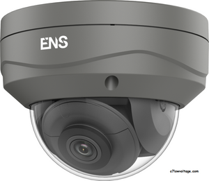 ENS SIP44D3/G28-K Starlight 4MP IR WDR PoE 0utdoor Network Dome Camera with 2.8mm fixed lens, RJ45 Connection.