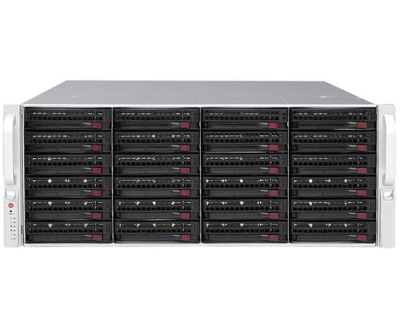 DIGITAL WATCHDOG DW-BJER4U280T Blackjack® E-RACK 4U 24-Bay Chassis 128-Channel 2.1MP 600Mbps RAID 5 Intel® i7® Processor NVR (280TB HDD Included)