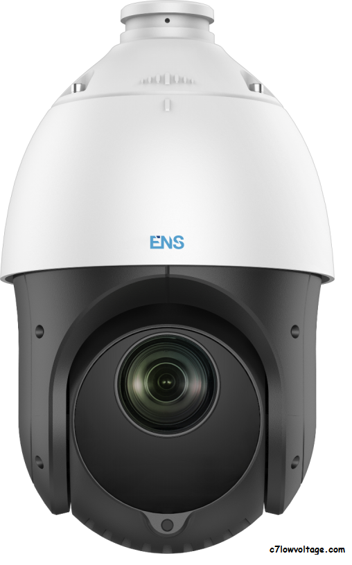 ENS SAZ4C225IR-A 2MP IR WDR TVI/AHD/CVI/CVBS PTZ 4-Inch Speed Outdoor analog Dome Camera with 4.8 mm to 120 mm, 25× Optical, BNC Connection.