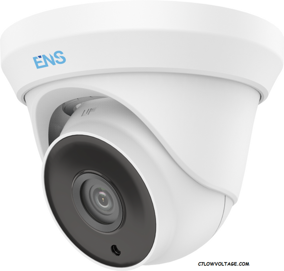 ENS SCC35T4/28-H 5MP IR WDR TVI/AHD/CVI/CVBS HD Outdoor Analog Turret Dome Camera with 2.8 mm fixed Lens, BNC Connection